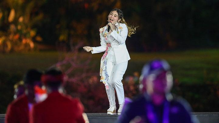 Via Vallen Tanggapi Soal Lipsync di Acara Asian Games 2018