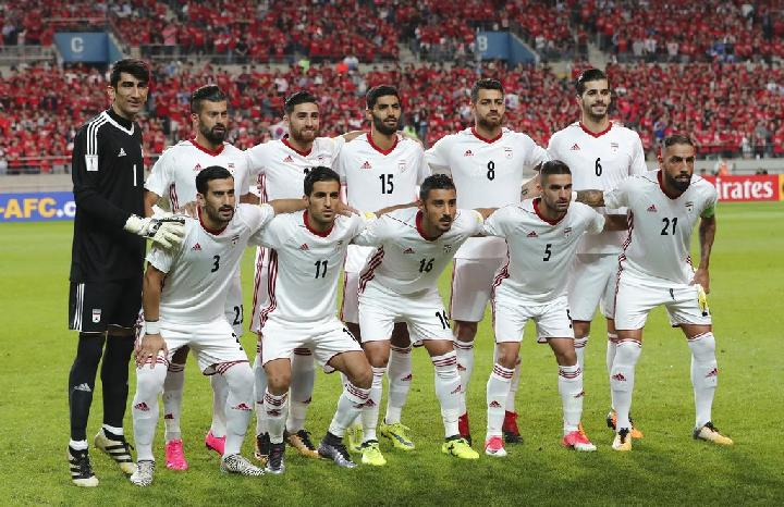 Timnas Iran. (AP Photo/Lee Jin-man)