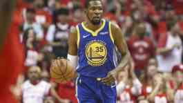 Pemain bintang Golden State Warriors, Kevin Durant. (USA TODAY Sports/Troy Taormina)