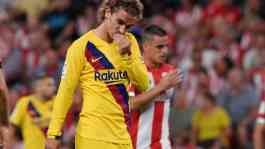 Pemain Barcelona Antoine Griezmann. REUTERS/Vincent West