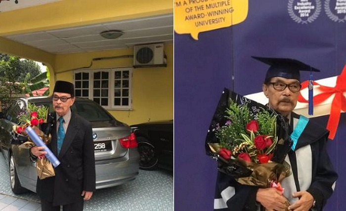 Luar Biasa, Imam Masjid Berusia 87 Tahun Wisuda Sarjana Teaching English as A Second Language