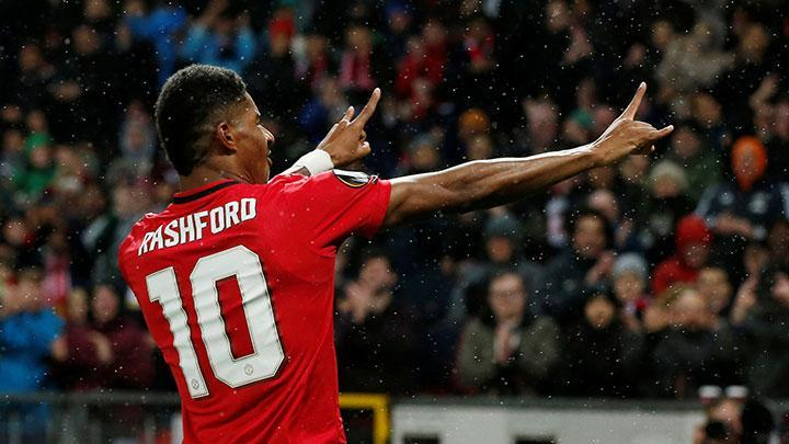 Pemain Manchester United, Marcus Rashford. Reuters