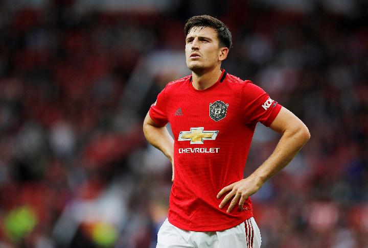 Pemain Manchester United Harry Maguire. Reuters/Jason Cairnduff