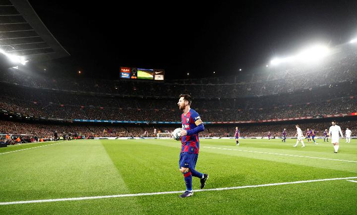 Pemain Barcelona, Lionel Messi. Reuters
