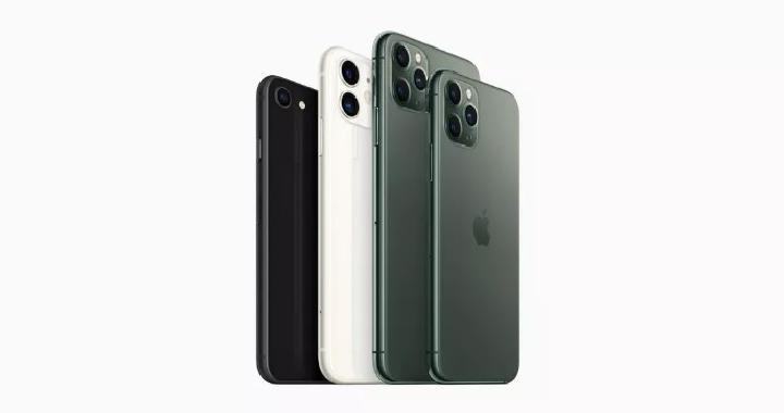 iPhone SE 2 (kiri) dan iPhone 11. Kredit: Apple