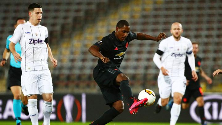 Manchester United's Odion Ighalo scores their first goal during the match Europa League Round of 16 First Leg between LASK Linz vs Manchester United at Linzer Stadion, Linz, Austria, March 12, 2020. REUTERS/Lisi Niesner