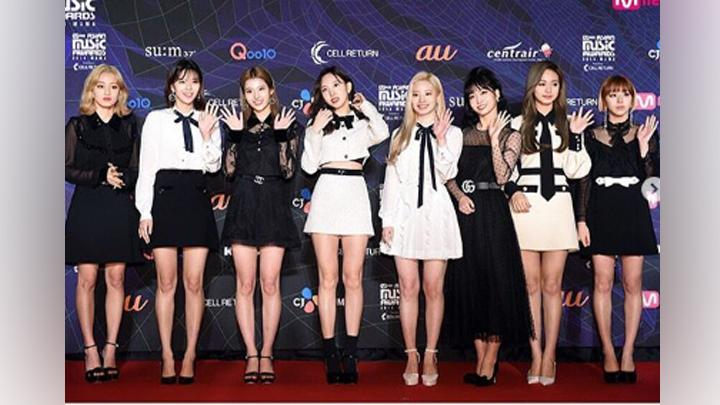 Twice di karpet merah Mnet Asian Music Awards (MAMA) 2019. Instagram.com/@mnet_mama