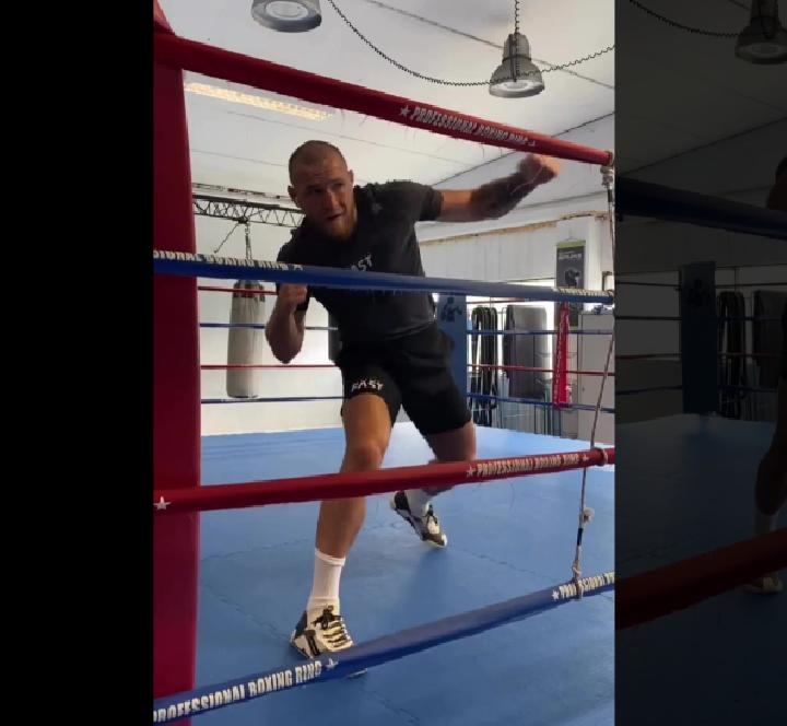 Conor McGregor shared videos of a shadow boxing Credit: INSTAGRAM / @THENOTORIOUSMMA