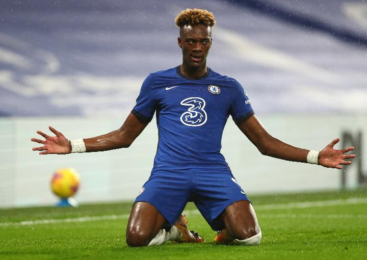 Pemain Chelsea Tammy Abraham. REUTERS/Clive Rose