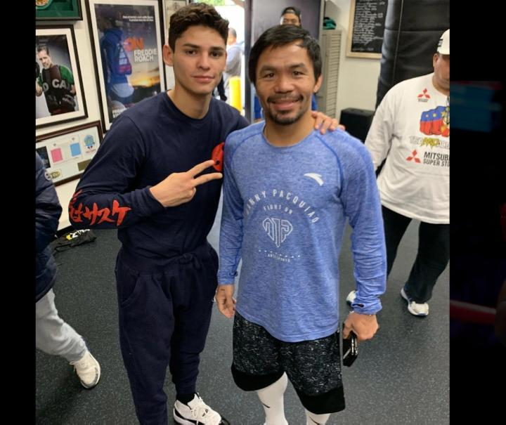 Manny Pacquiao has been in negotiations to face Ryan GarciaCredit: Instagram @mannypacquiao