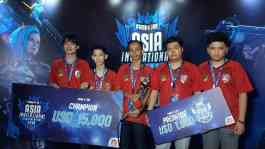 Tim asal Indonesia Island of God juara turnamen Free Fire Asia Invitational (FFAI) 2019 di ICE BSD, by Sinar Mas Land, Tangerang, Sabtu, 7 September 2019. TEMPO/Khory