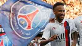 Pemain Paris Saint-Germain, Neymar. REUTERS/Gonzalo Fuentes