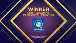 Babel Raih Most Engaging Pemerintah Provinsi di Government Social Media Awards 2020