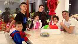 Cristiano Ronaldo celebrated his 36th birthday with his family at home